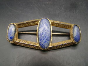 Chinese 1940 S Nice Metal And Lapis Pin T2265