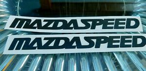 2x Mazdaspeed Sticker Vinyl Decal For Car And Others Finish Glossy