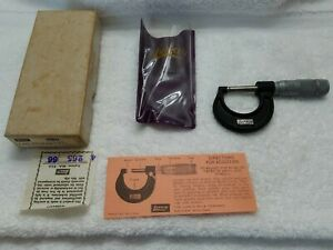 Lufkin Micrometer 1911 O 1 Inch With Box And Instructions Usa
