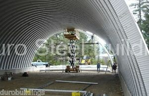 Durospan Steel 37x50x15 Metal Quonset Barn Building Kit Open Ends Factory Direct
