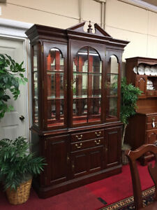 Pennsylvania House Cherry Lighted China Cabinet Shipping Available