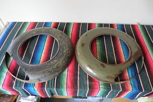 1930 s Plymouth Side Fender Wheel Covers Continental Kit Spare Tire Accessory