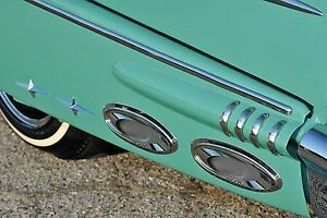 1950 s 1960 s Chevy Ford Pontiac Mercury Exhaust Ports Accessory Cruiser Skirts