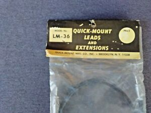 Vintage Quick Mount Lm 36 Car Radio Antenna Lead Extension 36 Long 1950s 80s