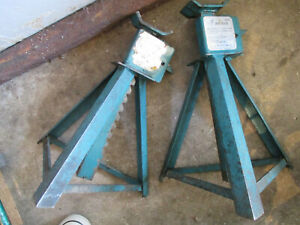 2 Vintage Sears Jack Stands 6000 Lbs Capacity Each Static Load 281279 Usa