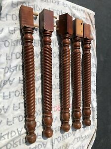 5 Vintage Wooden Table Legs