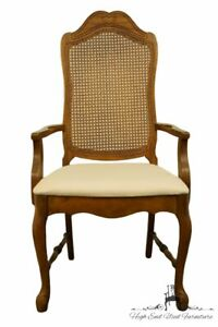 Bernhardt Furniture French Provincial Cane Back Dining Arm Chair 118 521 W 2