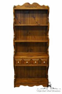 Kling Colonial Solid Pine Rustic Country Style 32 Wall Unit Bookshelf W 2