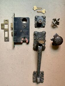 Vintage Antique Sergeant Mortise Entry Door Lock Set Brass