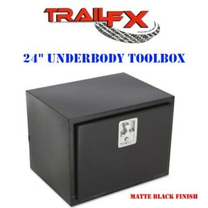 190243s Trailfx 24 Matte Black Steel Underbed Truck Trailer Tool Box