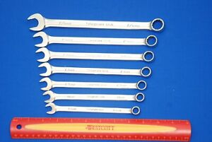 Snap on 7 Pc Metric Flank Drive Plus Combination Wrench Set Soexm707 Ships Free
