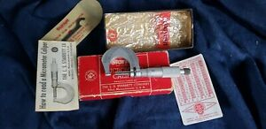 Starrett 231 Outside Micrometer Caliper Original Box Vintage Machinist Tool Bl