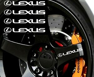 4x Lexus Rims Sticker Vinyl Decal For Car And Others Finish Glossy