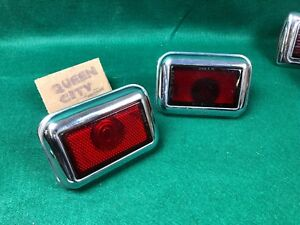1946 Oldsmobile Taillights W Lenses And Bodies Hot Rod Custom