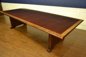 Leighton Hall Traditional Mahogany Conference Table