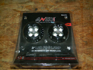 New Anzo 861195 Set Of 2 Universal 3 Round High Power Off road Led Fog Lights
