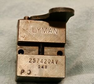 Lyman two cavity bullet mold used 257420AV 65g GC excellent condition