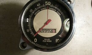 Stewart Warner Speedometer Vintage Dash Ford Hot Rod Scta Trog 0 100 Rare