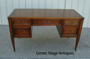 60072 Brandt Solid Mahogany Office Desk With Dovetailed Drawers