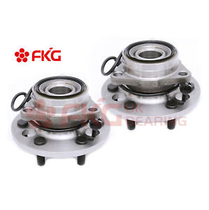 Front Wheel Hub Bearing Pair Set For Chevy K1500 Pickup Tahoe W Abs 4wd 515024