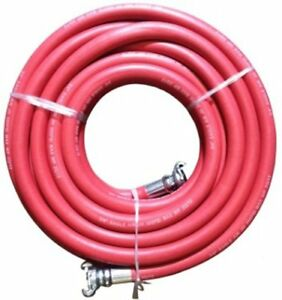 3 4 Red Universal Jackhammer Rubber Air Hose Abrasion Resistant Steel Coupling