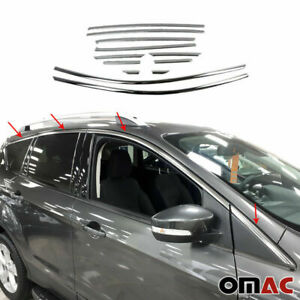 For Ford Escape 2013 2019 Chrome Upper Window Frame Trim Cover S Steel 12 Pcs
