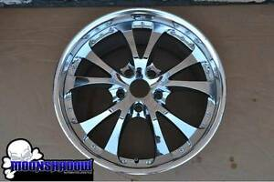 1 Used 19 Trafficstar Riverside Dtm Chrome Wheel Rim Bmw 19x9 5 5x120 53mm
