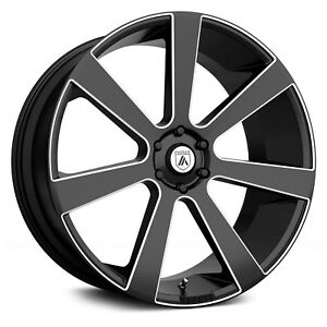 26 Asanti Black Label Wheels Abl 15 Black Rims Tires Fit Escalade Gmc Silverado