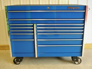 Snap On Blue Krl1022 Tool Box Stainless Steel Power Top Hutch