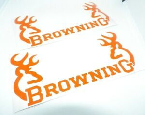 2x Cuty Browning Sticker Vinyl Decal For Car And Others