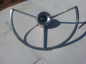 1961 Mercury Comet Steering Wheel Horn Ring Chrome Bezel Vintage Oem Fomoco