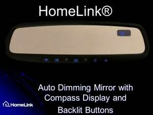 Gentex Homelink 4 Compass Rear View Mirror With Backlit Buttons Universal Kit