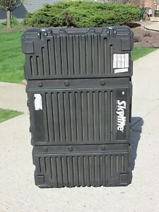 Large Skyline Travel Trade Show Display Case With Wheels 51 x9 x32 Case Only