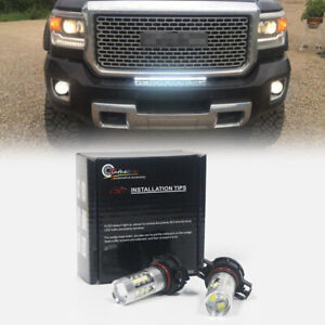 Hid White High Power Led Drl Daytime Running Lights For 17 Up Jeep Compass