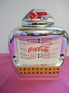 Gibson Coca-Cola Juke Box Ceramic Cookie Jar GUC