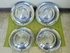 1955 Plymouth Hub Caps 15 Set Of 4 Wheel Covers 55 Hubcaps