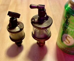 Lunkenheimer No 1 Brass Drip Oiler Gas Steam Engine And A Small Oiler Also