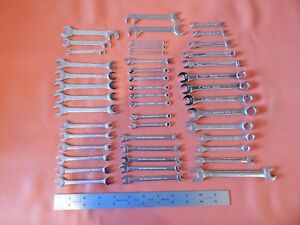 New Wrenches Lot Of 46 Proto Williams Bonney S K Open End Box Angle Mini