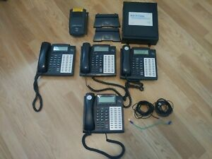 Esi Telephone System With 4 48 Key Hdfp Telephones lightly Used