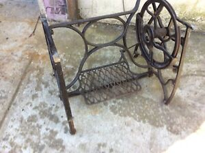 Vintage Cast Iron Sewing Machine Treadle Base Table Legs Stand