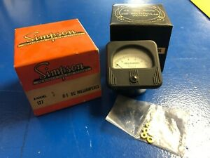 Vintage Simpson Model 127 0 1 Dc Milliamps Analog Panel Meter