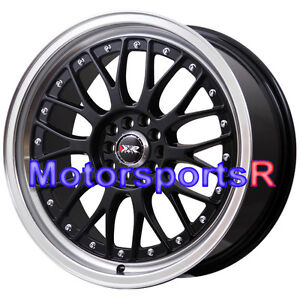 Xxr 521 17 X 7 38 Black Machine Lip Rims Wheels 5x114 3 04 Acura Rsx Type S Tsx