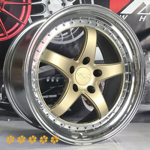 Xxr 565 Gold Pvd Lip Wheels Rims 18x9 5 20 5x4 5 98 99 03 04 Ford Mustang Cobra