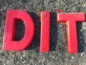 Vintage Theater Marquee Plastic Letter S Sign Service Advertising 18 1 2 X 15