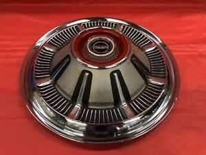 Vintage 1966 77 Ford 15 Hubcap Rare Satin Finish F100 Bronco Galaxie Vgc