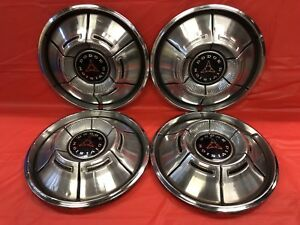 Vintage Set Of 4 1970 71 Dodge 14 Hubcaps Charger Dart Demon Good Condition