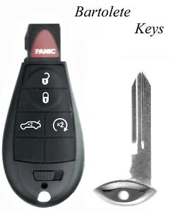 Replacement Transponder 5 Buttons Fob Fits Dodge Dart Challenger