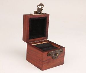 Red Wood Carving Handmade High Grade Ring Jewelry Box Gift