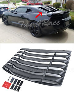 Fits 16 Up Chevrolet Camaro Coupe Rear Window Louver Sun Shade Cover Abs Plastic