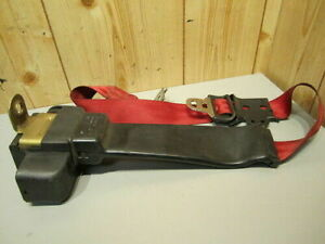 Ford Mustang 90 91 92 93 1990 1991 1992 1993 Seat Belt Red Rear Driver Side Oem